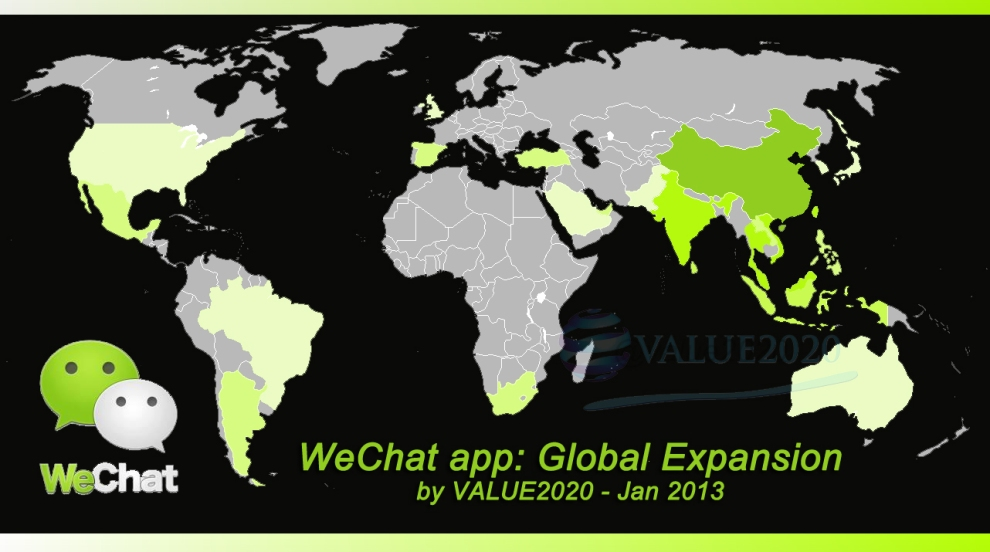 WeChat in the World by VALUE2020 - JAN2013